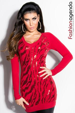 Pulover Sequin Red