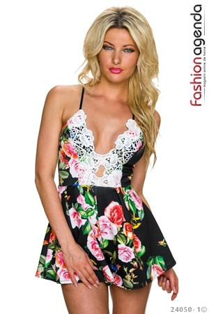 Salopeta Floral Print Liberty Black