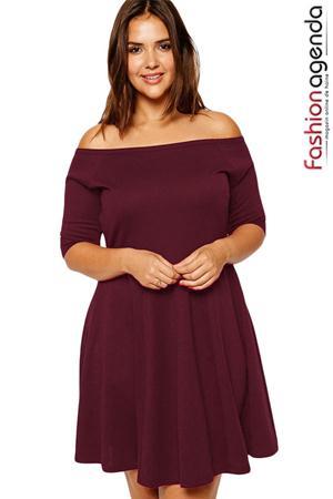 Rochie XXL Desire 52 Burgundy