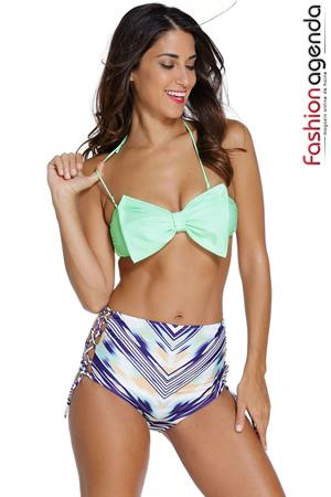 Costum de Baie Green Bow