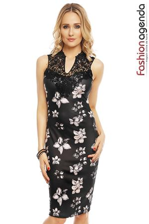 Rochie Orchideea Lace Black