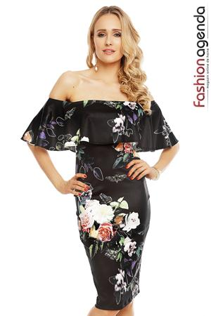 Rochie Spring Ruffles Black