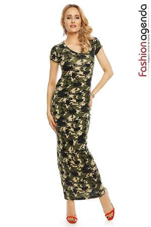 Rochie Lunga Army Green