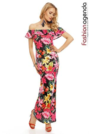 Rochie Lunga Bouquet Pink