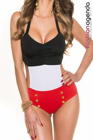 Costum de Baie Pin Up Black