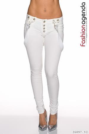 Pantaloni Karo White