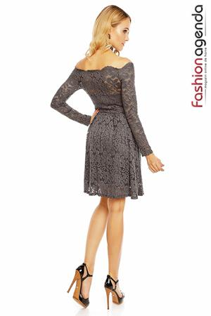 Rochie Heavenly Lace Gri