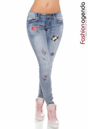 Jeans Peaceful Albastri