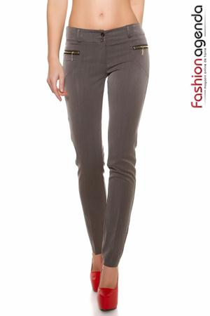 Pantaloni Mylon Gri