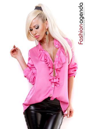 Camasa Ruffles Pink