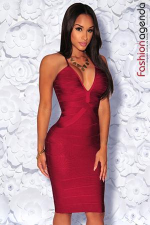 Rochie Bandage Premium 09 Bordo