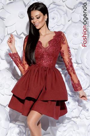 Rochie Beauty Bordo 07