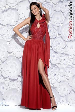 Rochie Lunga Beauty Bordo 08