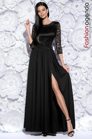 Rochie Lunga Beauty Neagra 09