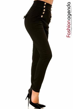 Pantaloni cu Talie Inalta Loop