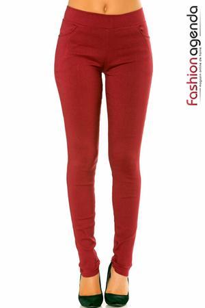 Pantaloni Beatrix Bordo