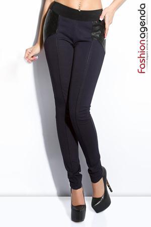 Pantaloni Clover Bleumarin