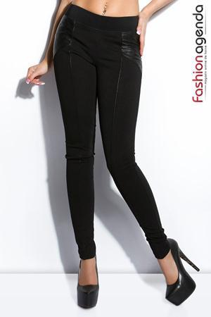 Pantaloni Clover Negri