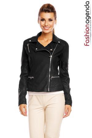 Jacheta din Piele Tayla Neagra