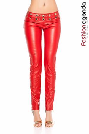 Pantaloni din Piele Torres Red
