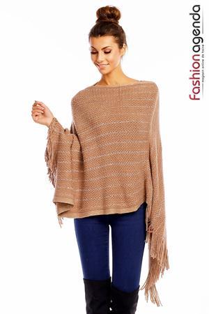 fashionagenda.ro Poncho Vincy Camel