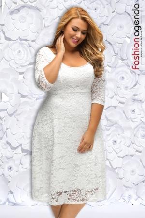 Rochie XXL Desire 112 Alba