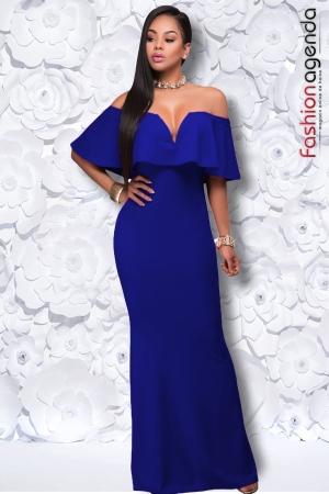 Rochie Lunga Eleganta Vivika Albastra