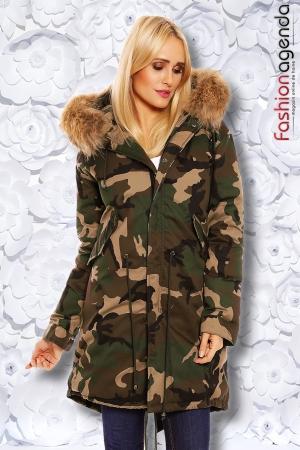 Jacheta Camouflage Fur
