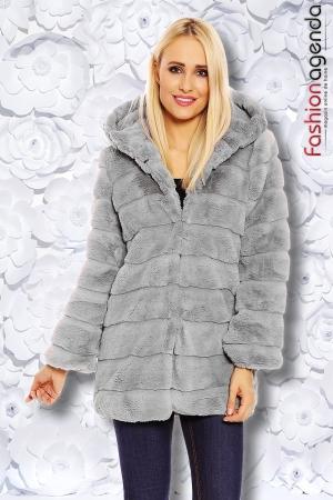 Jacheta din Blana Moroder Grey