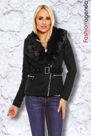 Jacheta din Velur Mochy Black