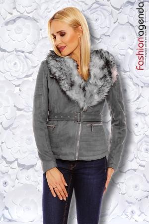 Jacheta din Velur Mochy Grey