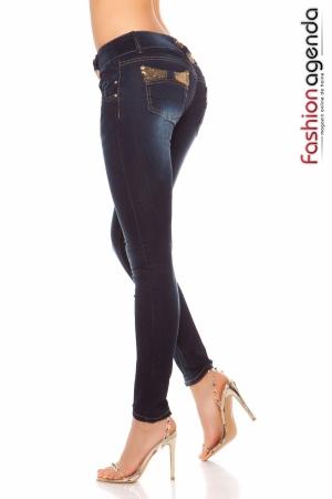 Jeans cu Paiete Morris