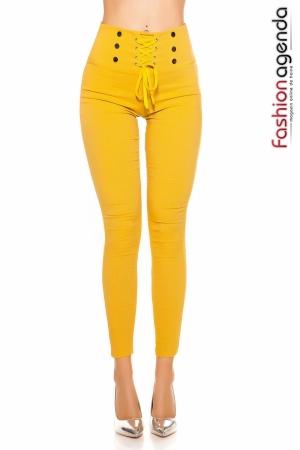 Pantaloni Delight Galbeni