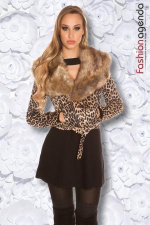 Jacheta Scurta Sofia Leopard