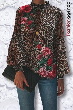 Bluza Phyllis Leopard