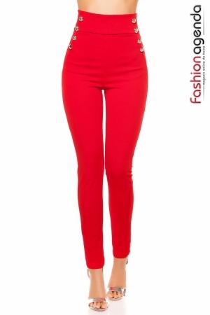 Pantaloni Courtney Rosii