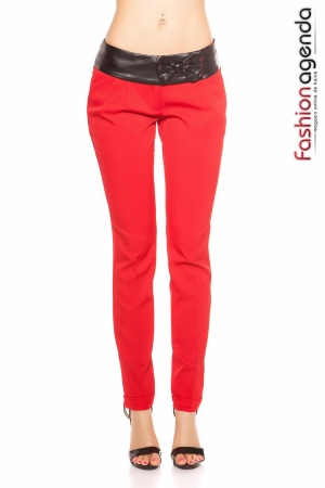 Pantaloni Eleganti Hades Rosii