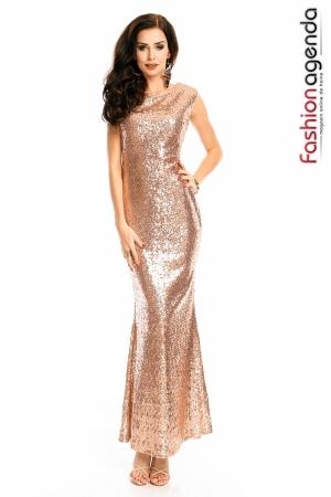 Rochie Eleganta Sequin Touch Gold