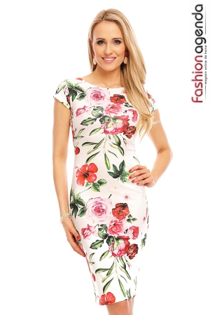 Rochie Blooming Alba