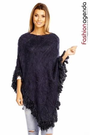 fashionagenda.ro Poncho Rennie Blue