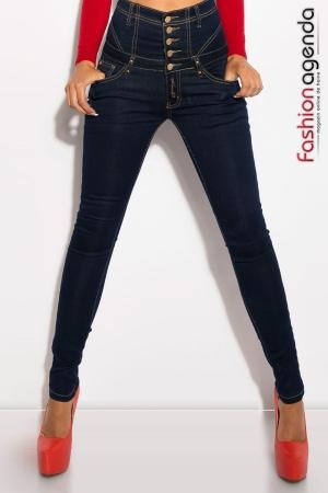 Jeans cu Talie Inalta Level