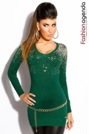 Pulover Elegant Chymera Verde