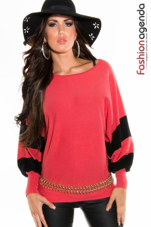 Pulover Reeve Coral