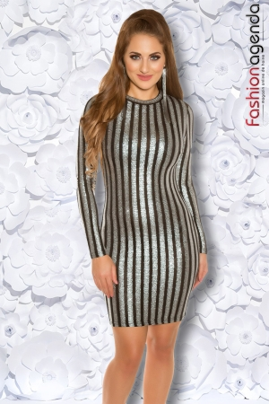 Rochie Silver Lines