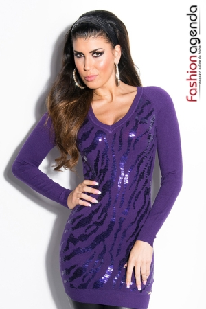 Pulover Sequin Violet