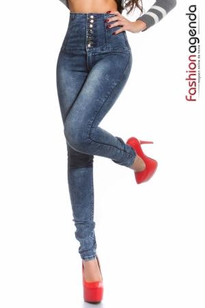 Jeans cu Talie Inalta Hillary