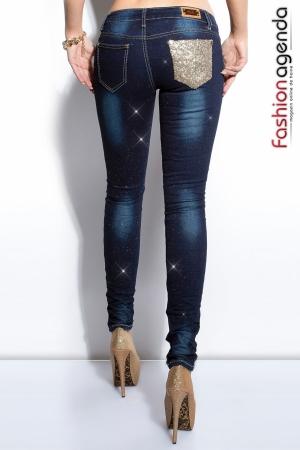 Jeans cu Paiete Paul