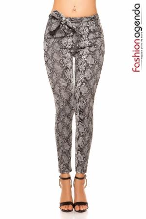 Pantaloni Snake Grey