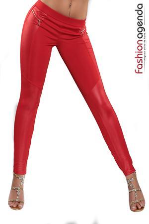 Pantaloni Exhale Rosii