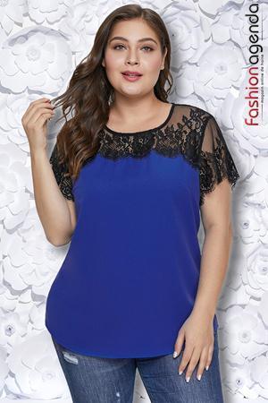 Bluza XXL Brigitte Albastra